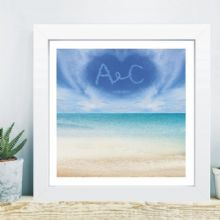 Written in the Sky in Box Frame - Beach Wedding - 1st Wedding Anniversary (Paper) Gift
